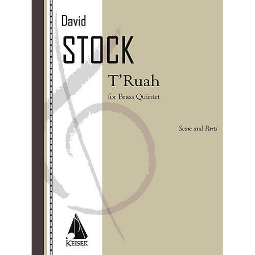 Lauren Keiser Music Publishing T'ruah for Brass Quintet LKM Music Series Book  by David Stock-thumbnail