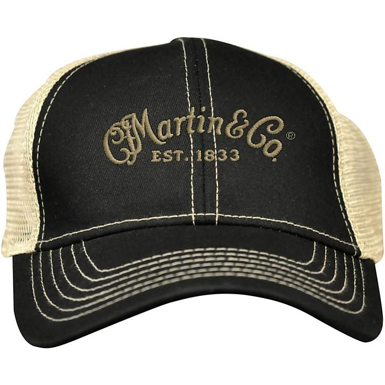 MartinTrucker Hat with Tan MeshBlack