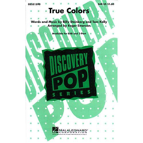 Hal Leonard True Colors SAB by Cyndi Lauper arranged by Roger Emerson-thumbnail