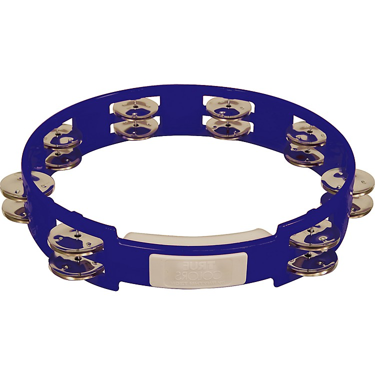 RhythmTech True Colors Tambourine Cobalt Blue 10 inch
