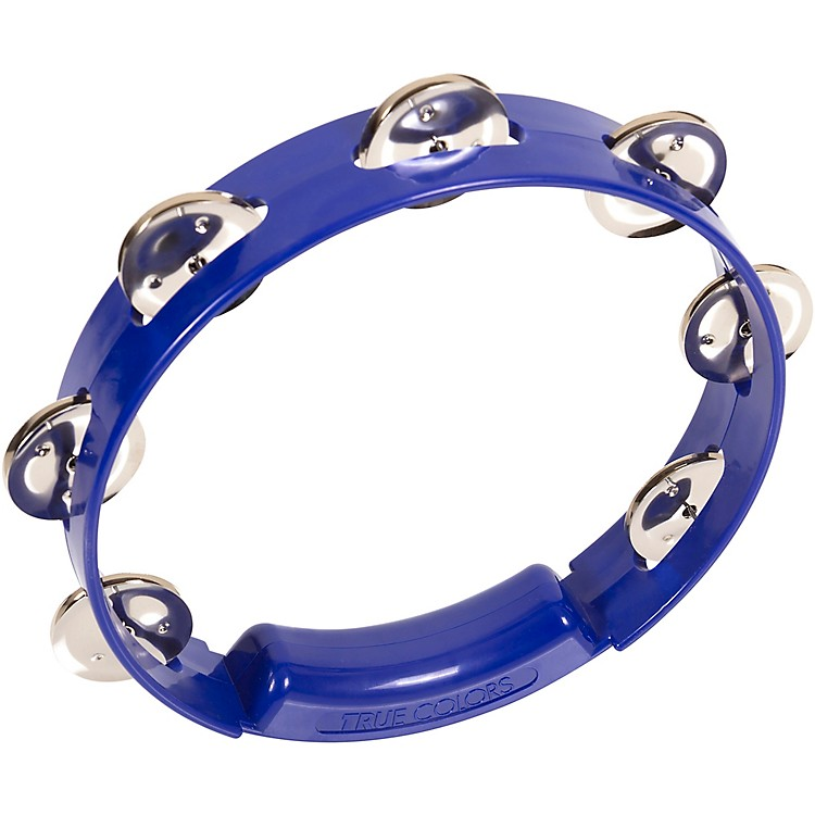 RhythmTech True Colors Tambourine Cobalt Blue 8 Inches