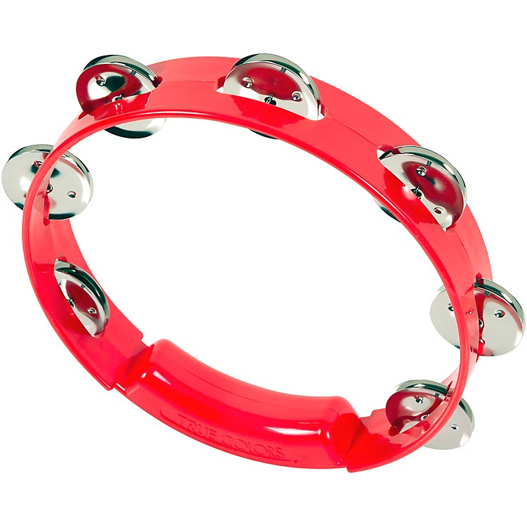 RhythmTech True Colors Tambourine Red 8 Inches