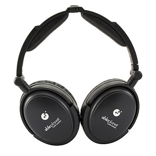 Able Planet True Fidelity NC180B Around the Ear Foldable Noise Canceling Headphones