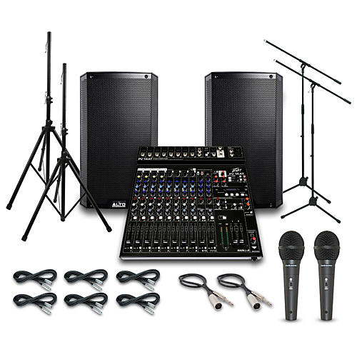 Alto Truesonic TS212 with Peavy PV14AT Mixer PA System-thumbnail