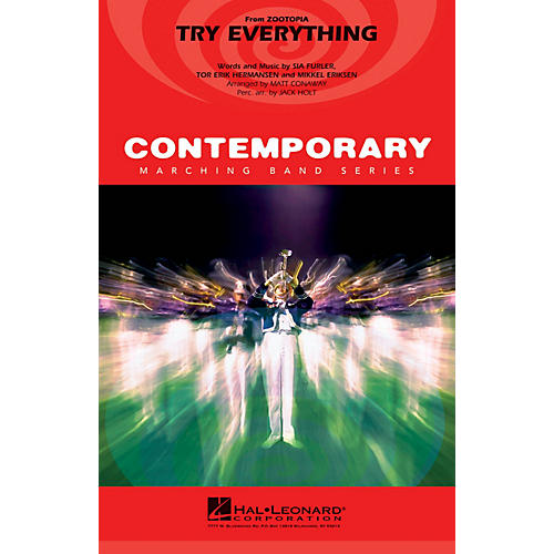 Hal Leonard Try Everything (from Zootopia) Marching Band Level 3-4 by Shakira Arranged by Matt Conaway-thumbnail