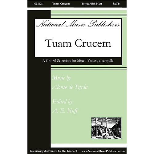 National Music Publishers Tuam Crucem SATB a cappella composed by Alonso de Tejeda-thumbnail