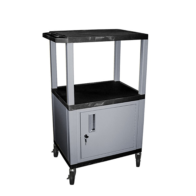H. WilsonTuffy Cart with Lockable CabinetBlack and NickelSmall