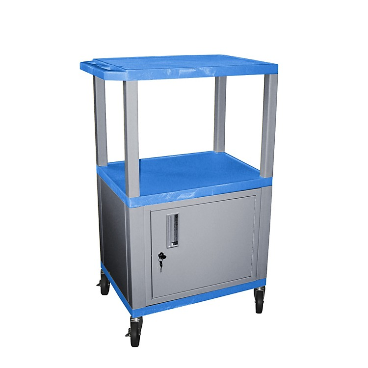 H. WilsonTuffy Cart with Lockable CabinetBlue and NickelSmall