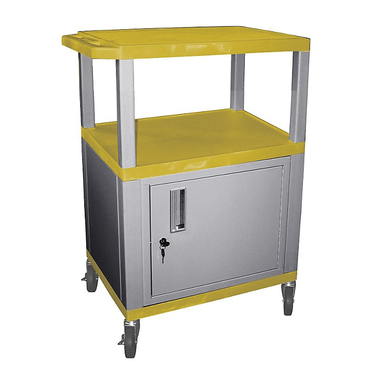 H. WilsonTuffy Cart with Lockable CabinetYellow and NickelSmall