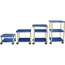 "H. Wilson Tuffy Plastic 16"" to 42"" 2 Shelf Cart"