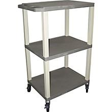"H. Wilson Tuffy Plastic 42"" 3 Shelf Utility Cart"