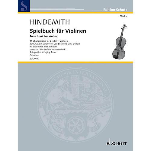 Schott Tune Book for Violins (41 Studies for 2 (or 1) Violins Based on The Doflein Violin Method) Schott Series