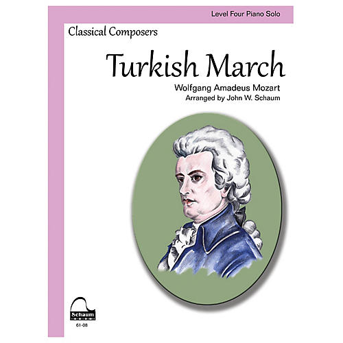 SCHAUM Turkish March Educational Piano Series Softcover
