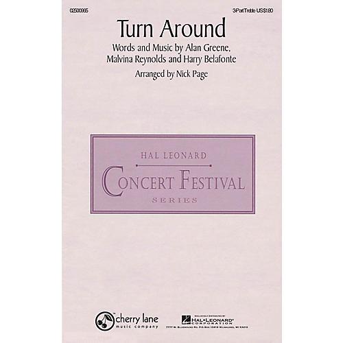 Hal Leonard Turn Around 3 Part Treble arranged by Nick Page