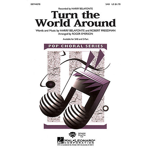 Hal Leonard Turn the World Around SAB arranged by Roger Emerson