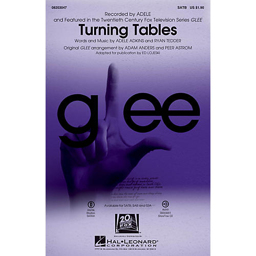 Hal Leonard Turning Tables ShowTrax CD by Adele Arranged by Ed Lojeski-thumbnail
