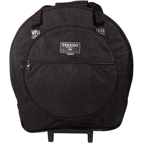 Humes & Berg Tuxedo Tilt-N-Pull Cymbal Bag with Dividers Black 22 in.