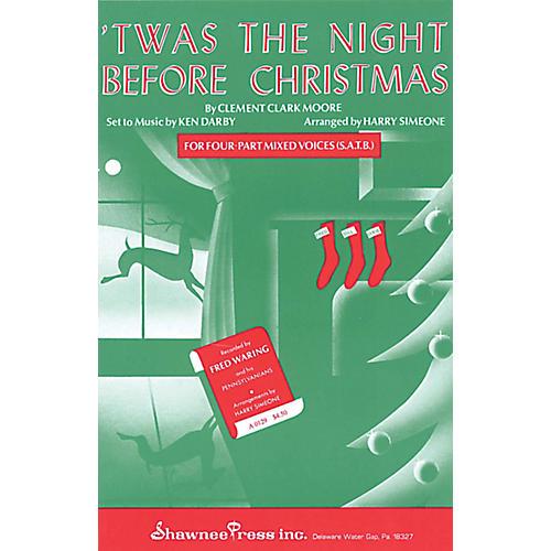 Shawnee Press 'Twas the Night Before Christmas SSA Arranged by Harry Simeone-thumbnail