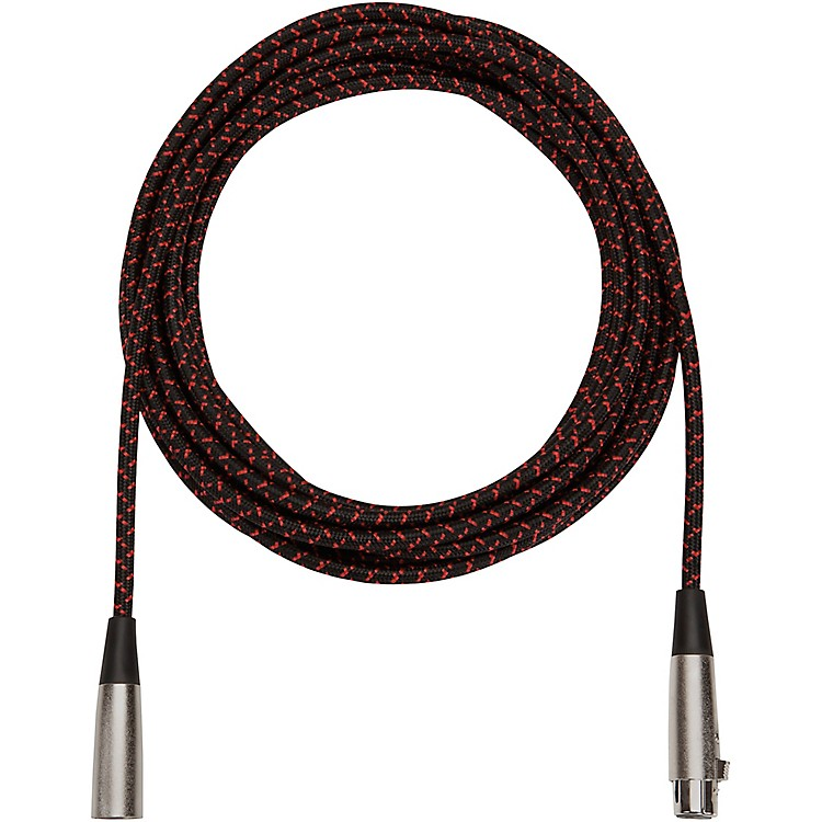 Musician's Gear Tweed Lo-Z Woven Mic Cable Black Tweed 20 Foot