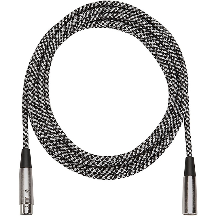 Musician's Gear Tweed Lo-Z Woven Mic Cable Grey 20 Foot