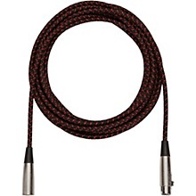 Musician's Gear Tweed Lo-Z Woven XLR Mic Cable Black Tweed 20 ft.