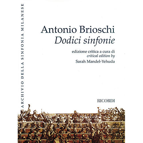 Ricordi Twelve Symphonies (Dodici sinfonie) Orchestra Series Softcover Composed by Antonio Brioschi-thumbnail