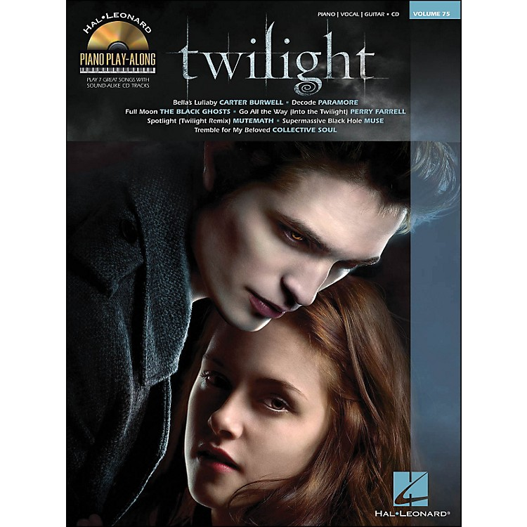 Hal LeonardTwilight - Music From The Motion Picture Soundtrack - Piano Play-Along Volume 75 (Book/CD) arranged for piano, vocal, and guitar (P/V/G)