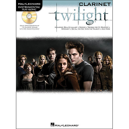 Hal Leonard Twilight For Clarinet - Music From The Soundtrack - Instrumental Play-Along Book/CD Pkg-thumbnail