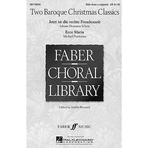 Hal Leonard Two Baroque Christmas Classics SSA Div A Cappella arranged by Judith Blezzard