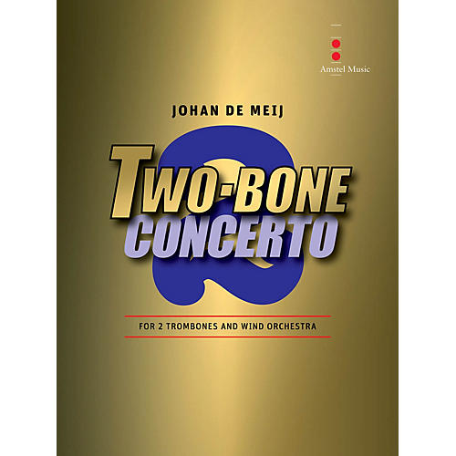 Amstel Music Two Bone Concerto (2 Trombones and Wind Orchestra) Concert Band Level 5 Composed by Johan de Meij-thumbnail