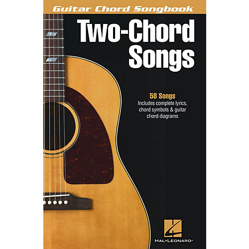 Hal Leonard Two-Chord Songs - Guitar Chord Songbook Guitar Chord Songbook Series Softcover Performed by Various-thumbnail