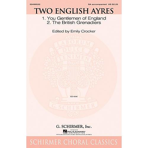 G. Schirmer Two English Ayres SA arranged by Emily Crocker