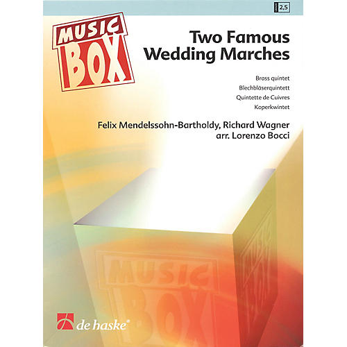 De Haske Music Two Famous Wedding Marches De Haske Ensemble Series Arranged by Lorenzo Bozzi-thumbnail