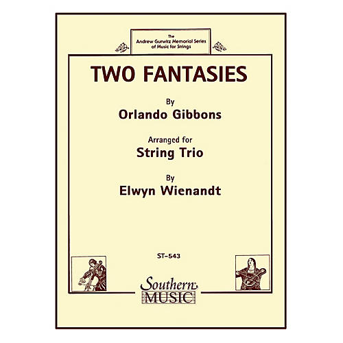Southern Two Fantasies (String Trio) Southern Music Series Arranged by Elwyn Wienandt-thumbnail