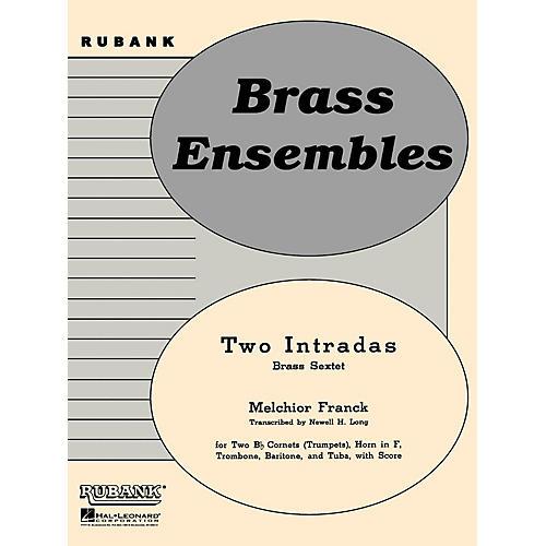 Rubank Publications Two Intradas (Brass Sextet or Choir - Grade 2) Rubank Solo/Ensemble Sheet Series-thumbnail