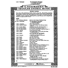 G. Schirmer Two Macedonian Folk Songs All Night I Am Awake Come, Sweetheart A Cappella SATB by Macedonian Folksong