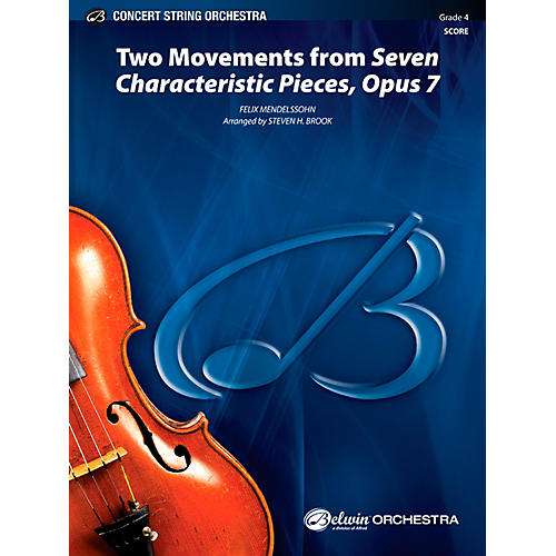 Alfred Two Movements from Seven Characteristic Pieces, Op. 7 - Concert String Orchestra Grade 4 Set