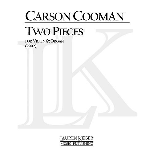 Lauren Keiser Music Publishing Two Pieces for Violin and Organ LKM Music Series Composed by Carson Cooman-thumbnail