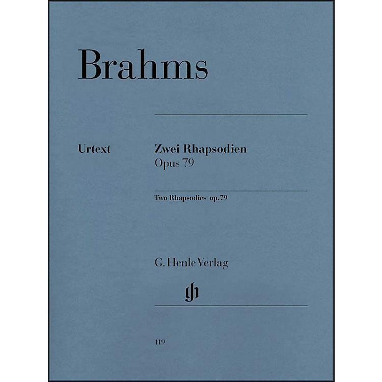 G. Henle VerlagTwo Rhapsodies Op. 79 By Brahms