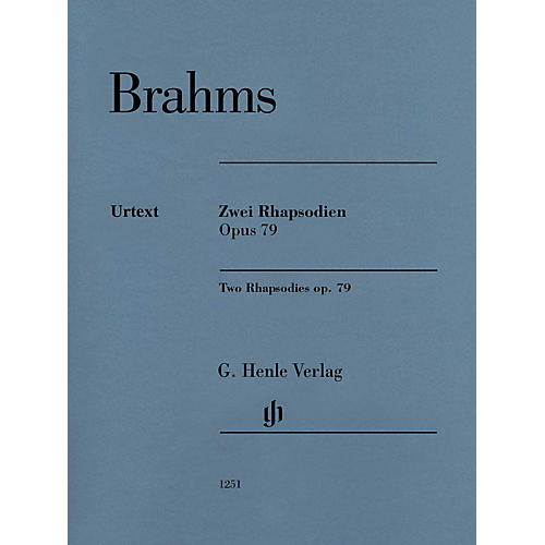 G. Henle Verlag Two Rhapsodies Op. 79 Revised Henle Music Folios Softcover by Johannes Brahms Edited by Katrin Eich-thumbnail