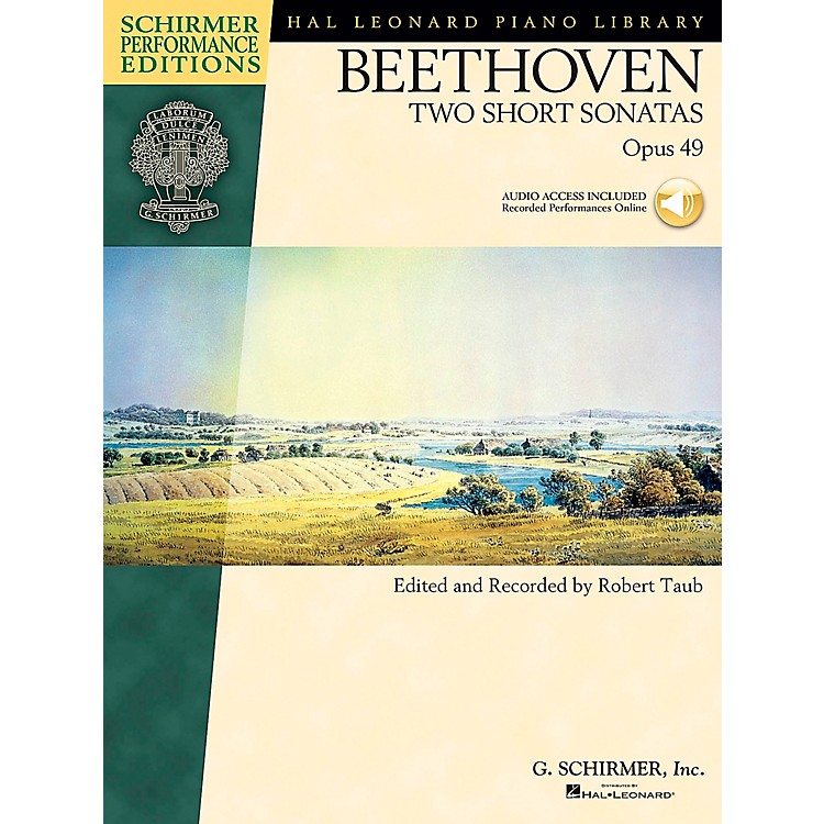 G. Schirmer Two Short Piano Sonatas Op 49 Book/CD Schirmer Performance Edition By Beethoven / Taub