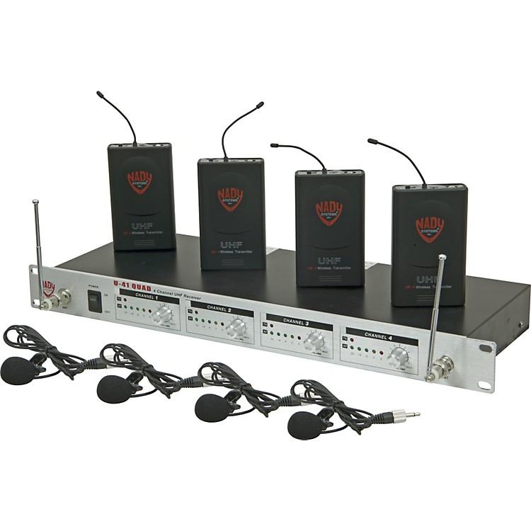 NadyU-41 Quad Omni Lav Wireless System (14/16/10/12)Black