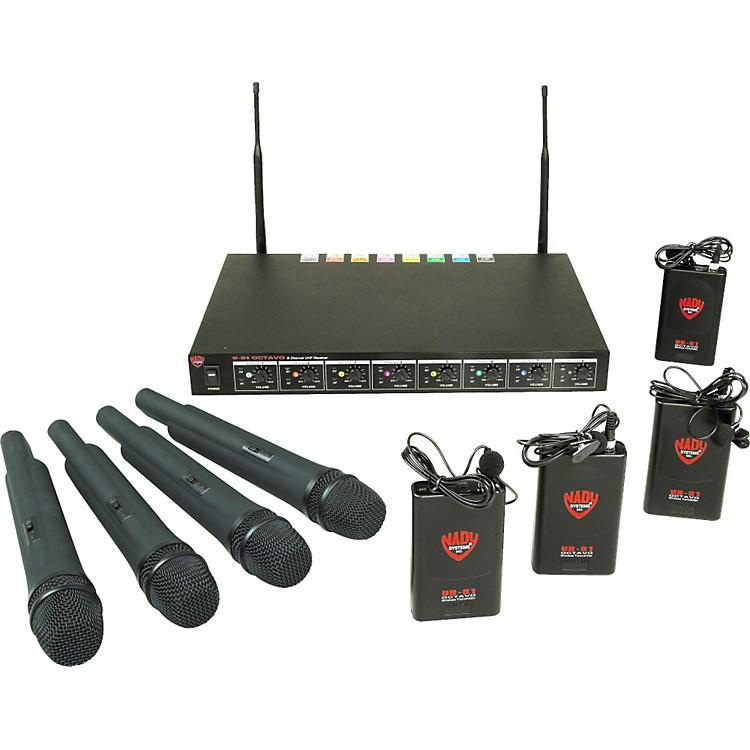NadyU-81 OCTAVO 4 Handheld 4 Lav Wireless System (10/11/12/14/15/16/17/18)