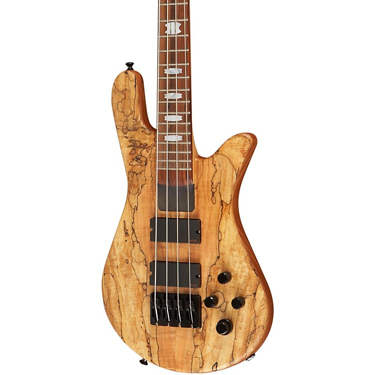 Spector U.S.A. NS-4H2-EX Spalted Maple Top Bass Guitar Spalted Maple Natural