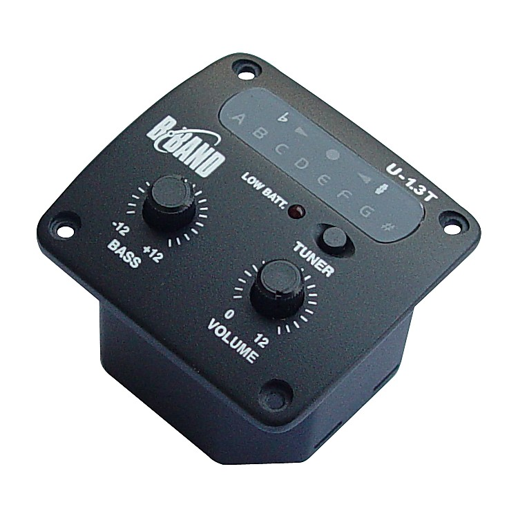 B-Band U1.3T Onboard Sidemount Ukulele Preamp with Tuner and Undersaddle Pickup