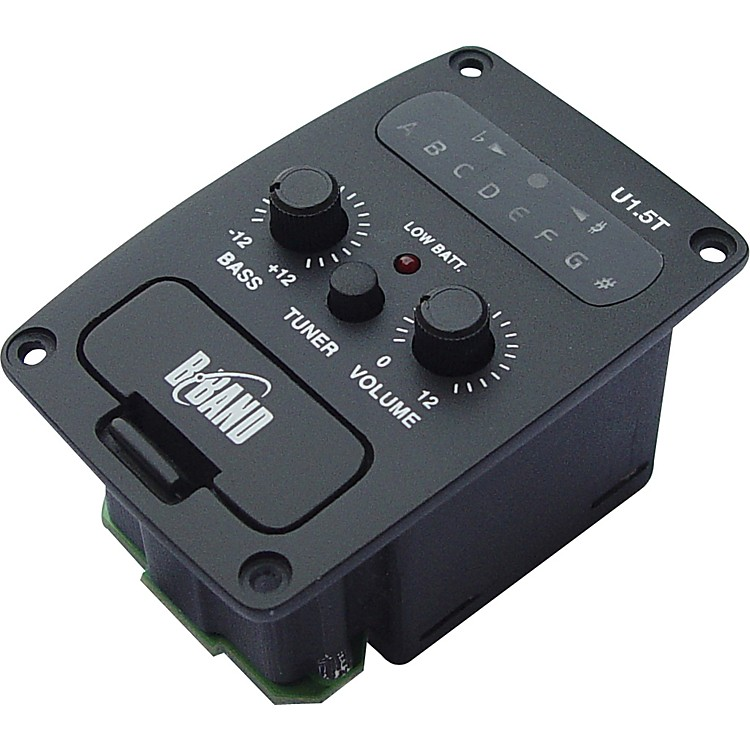 B-Band U1.5T Onboard Sidemount Ukulele Preamp with Chromatic Tuner and Undersaddle Pickup