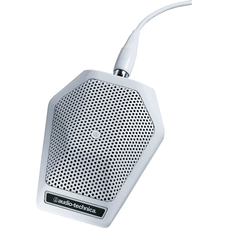 Audio-TechnicaU851RW UniPoint Cardioid Condenser Boundary MicrophoneWhite