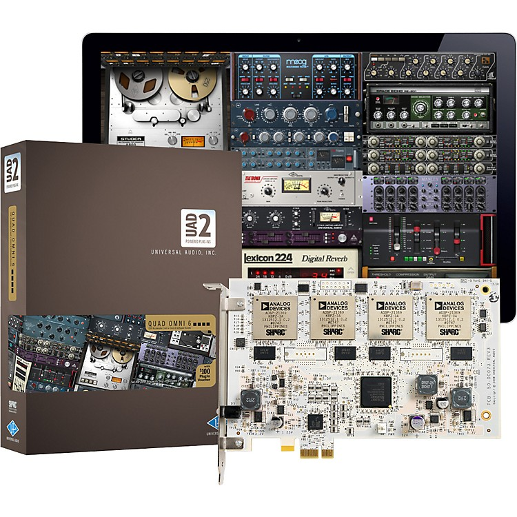 Universal AudioUAD-2 QUAD Omni 6 DSP Accelerator Card w/ Omni Plug-In Bundle