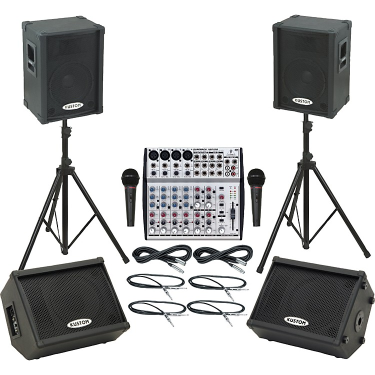 Behringer UB1202 / KPC12P Mains & Monitors Package