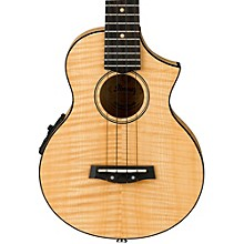 Ibanez UEW12E Flame Maple Concert Ukulele Natural